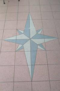 Stern auf der Terrasse